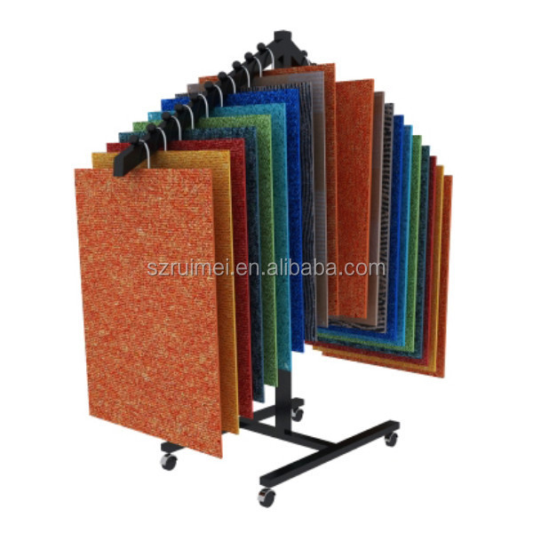 store rug carpet rack exhibition showroom carpet sample display rack