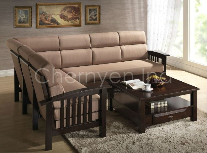 Sg Connel Wooden Sectional Sofa Buy Sofa Product On Alibabacom - Sofas-de-madera