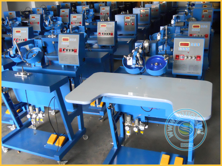High quality garment  leather underware jeans automatic pearl attaching machine