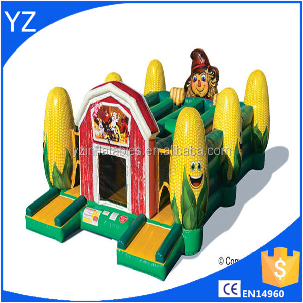 Outdoor customized size inflatable corn forest tunnel maze