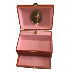 small gift for kids musical jewellery box with ballerina china