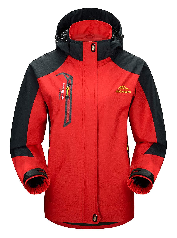 YSENTO Women's Lightweight Outdoor Ski Jacket Hooded Waterproof Windproof Softshell Coat