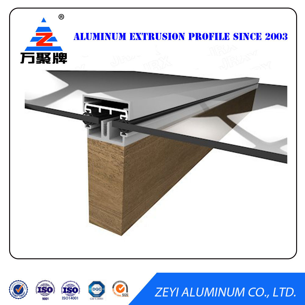 Anti corrosive construction aluminium profile for glass roof