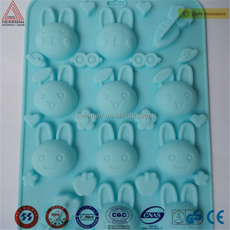 Soap Mold Mickey Silicone Moulds Cake Candy Decorating Bakeware Mickey 4 Cav Muffin cookie Chocolate molds