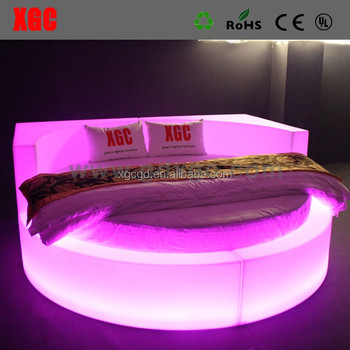 LED FURNITURE 16 Colors changeable with remote control illuminated BED