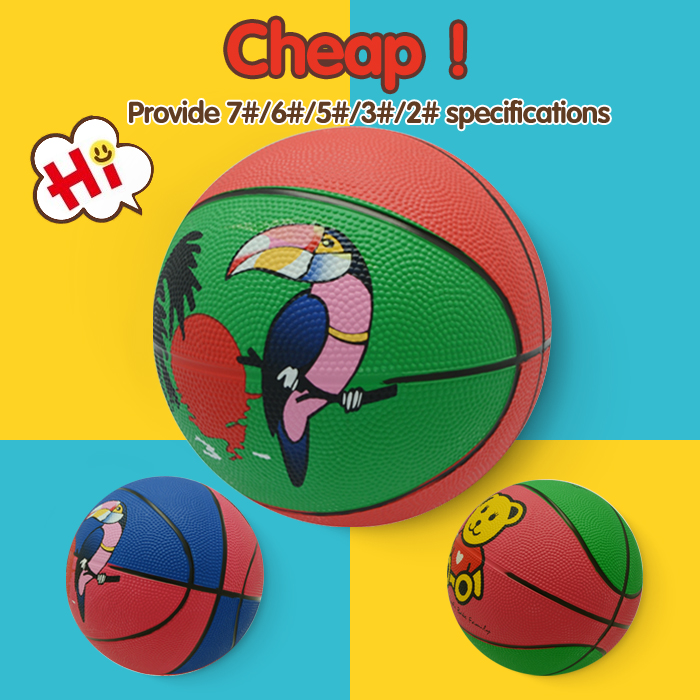#7 basketball, colorful rubber basketball