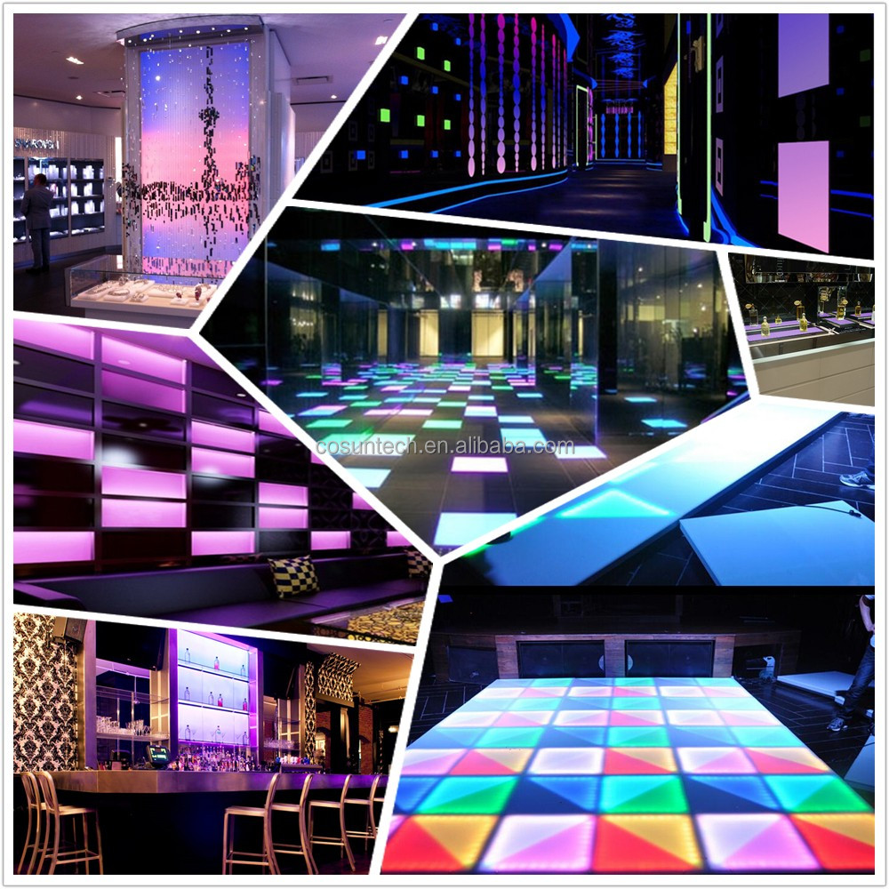 Colorful light up dance floor illuminated interactive led dance floor with led light panel