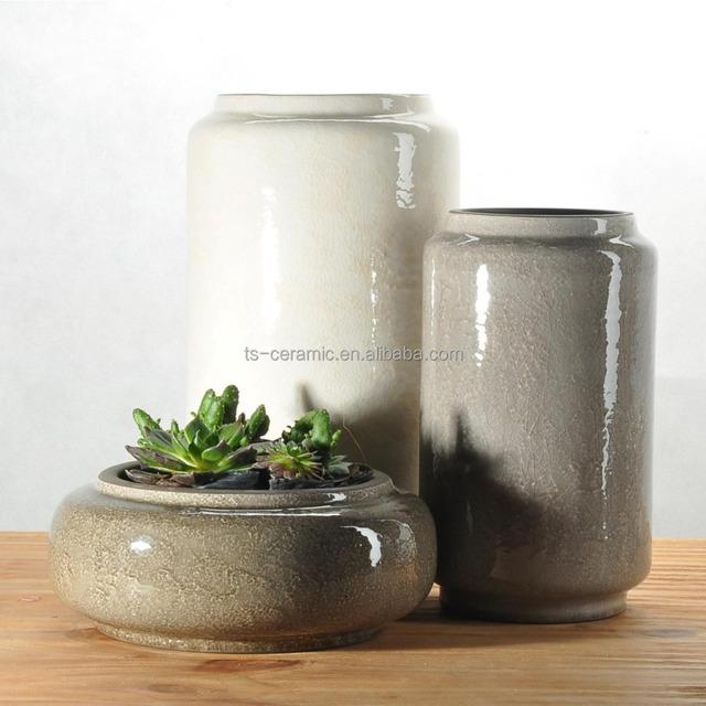 Outdoor Garden Decoration Ceramic Glazed Flower Plant Pot Wholesale