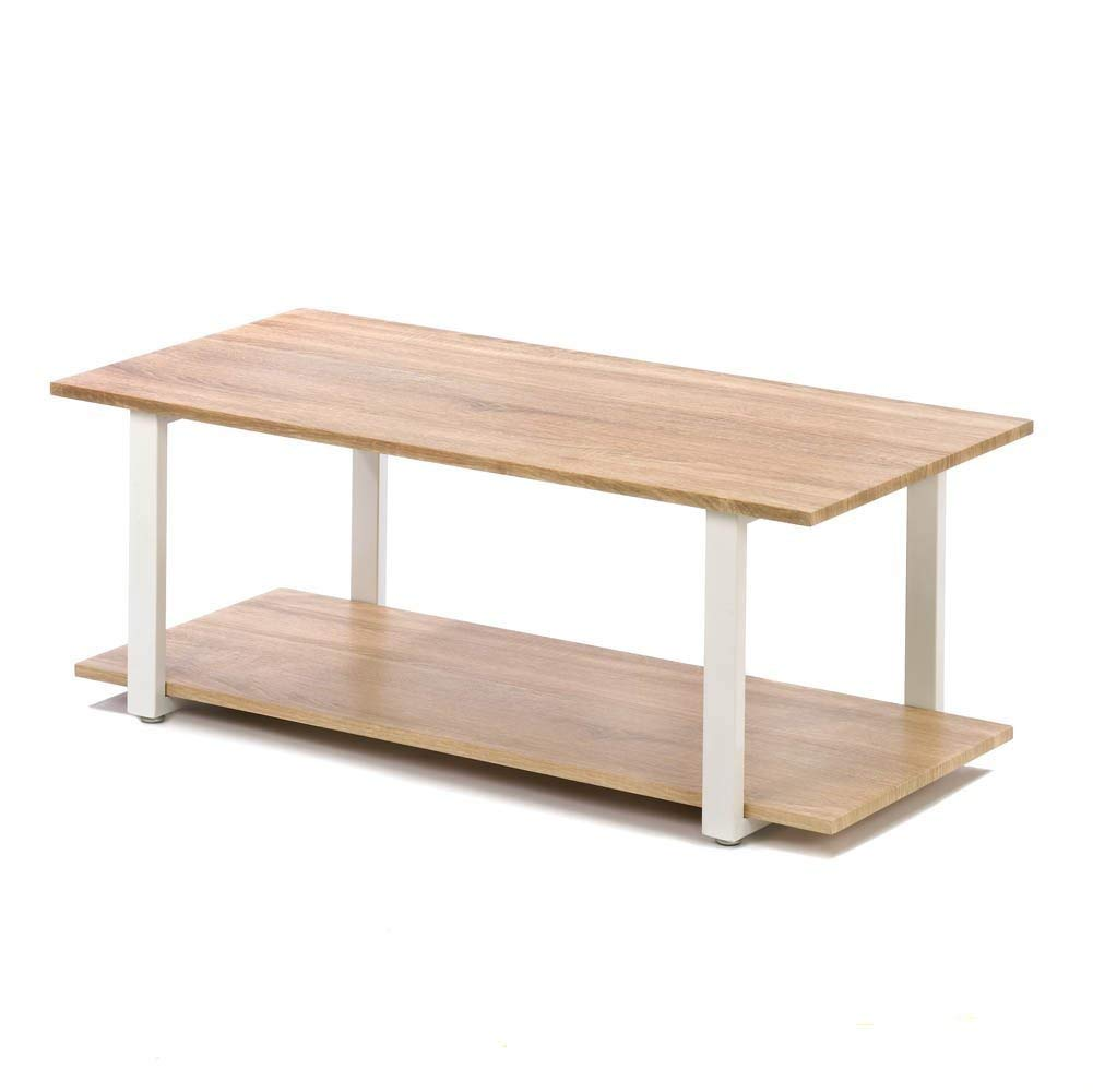 MyEasyShopping Contemporary Cottage Coffee Table, Contemporary Cottage Coffee Table - Modern Design - Perfect for Your Home - Lightweight & Strong, Table Coffee Cottage Wood Original
