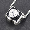 Customized high quality fashionable camera antique look pendant silver jewelry charm