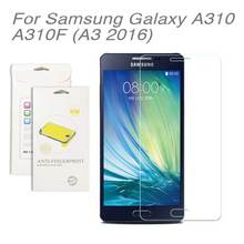 For Samsung galaxy A310 (A3 2016),3pcs/lot High Clear LCD Screen Protector Film Screen Protective Film Screen Guard SM-A310F
