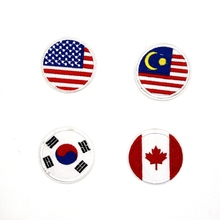Cheap stock Country Flag Embroidery Design Custom Embroidered Patches