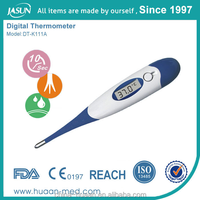 2017 Factory Price CE Qualified Custom Logo, packaging and color High Quality Accuracy Flexible Digital Thermometer