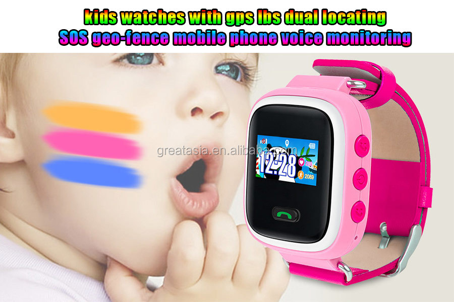 China manufacturer Best selling hidden gps tracker wrist watch with one key SOS call for kids A3