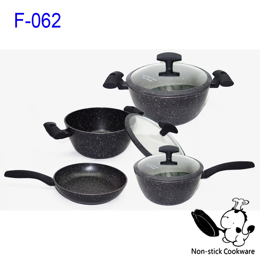 Marble coated series forged aluminum stoneline cookware cookware