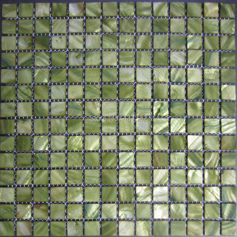 Free Shipping Mosaic Tiles Green Mother Of Pearl Tiles