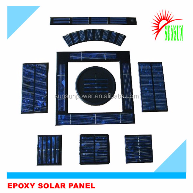 Best quality Epoxy resin 1V 2V 3V 4V 5V low price mini solar panel