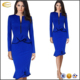Ecoach office dress for ladies 2016 long sleeve blue Two Piece Ruffled Tunic pictures office dress for ladies office dress