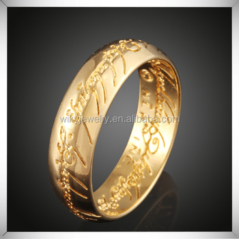 Newest Arabic Language Engraved Gold Jewelry Design Wedding Ring