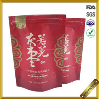 food products zipper stand up plastic packing with window