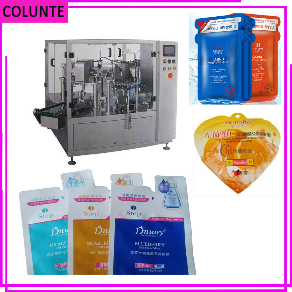 Low price special shape bags face mask machine with sufficient serum