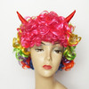 MCW-0161 fancy ball costume party halloween lady female horns funny wigs
