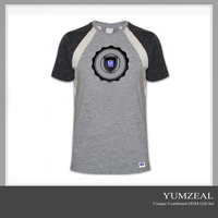 distressed design your own rounded hem two tone t-shirt