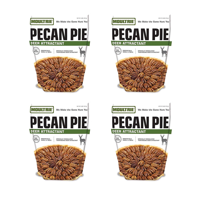Moultrie Pecan Pie Game Deer Feeder Attractant Powder Mix, 4 Pack | MFS-13078