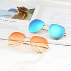 2018 New trendy Summer Style Female folding metal sunglasses