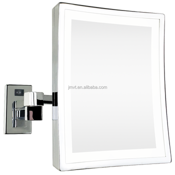 Rectangle Magnifying Wall Mount Movable Bathroom Mirror Led Makeup
