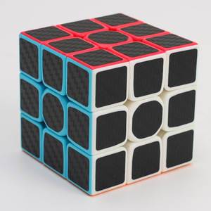 Zcube 3x3 magic color carbon fibre 3x3x3 Puzzle buy cube for educational toys kids