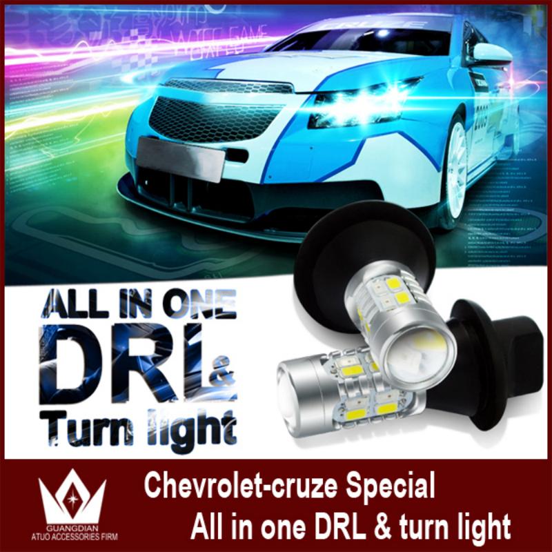 Ночь властелин колец новинка для Chevrolet Cruze 2009 ~ 2013 PY21W BAU15S 1156 из светодиодов передняя поворотники и DRL все в одном