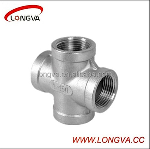 Hotsale sanitary stainless steel 4-way pipe fitting cross