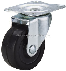 wholesale price small mini rubber castor furniture casters and wheels