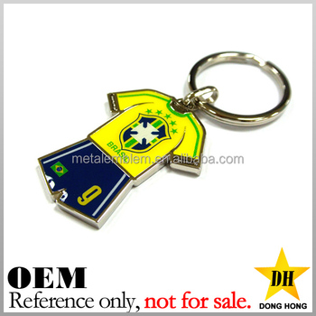 cheap existing custom digital printing soccer ball jersey keychains