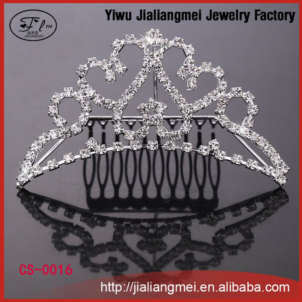 Pageant rhinestone crystal crown prom wedding bridal tiaras comb