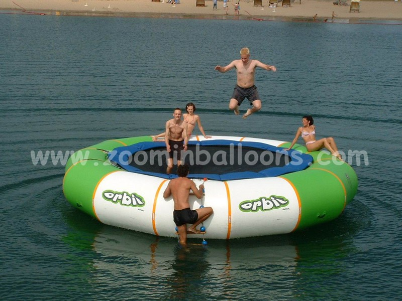 Crazy water game inflatable trampoline bed on sale Z7002