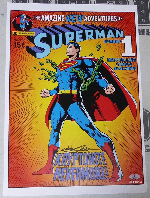 ff264e00df9d Get Quotations · Neal Adams Signed 13x19 Superman  1 Comic Book Poster  Print BAS Beckett COA Auto -