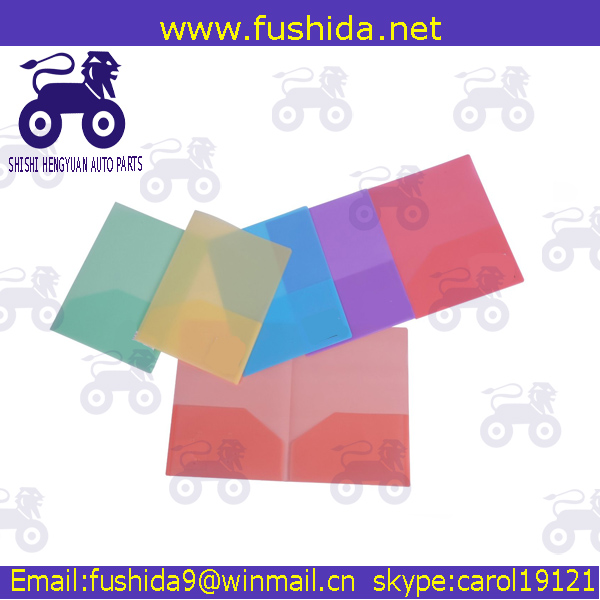 A4 Size PP Custom 2 pocket Clear File Folder For School