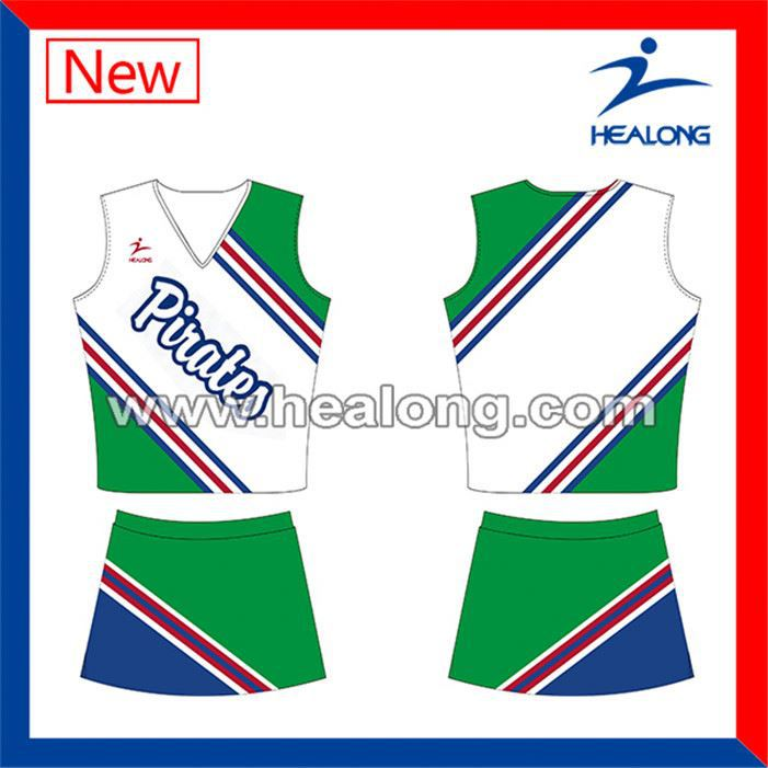 Healong Sport 3D Sublimated Custom-Made Cheerleading Uniforms Manufacturer