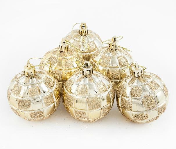 6 pcs/lot 2016 New Year Christmas Tree Decoration Merry Christmas Balls 6 cm Gifts for Festival Party Decorations Ball Ornaments