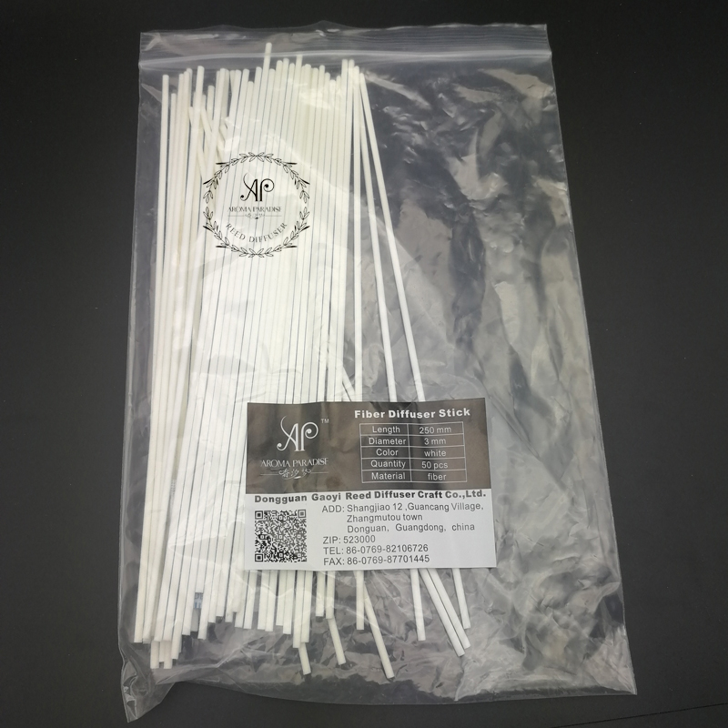 3mmx25cm 50pcs/bag reed diffuser white fiber wicks for air evaporative