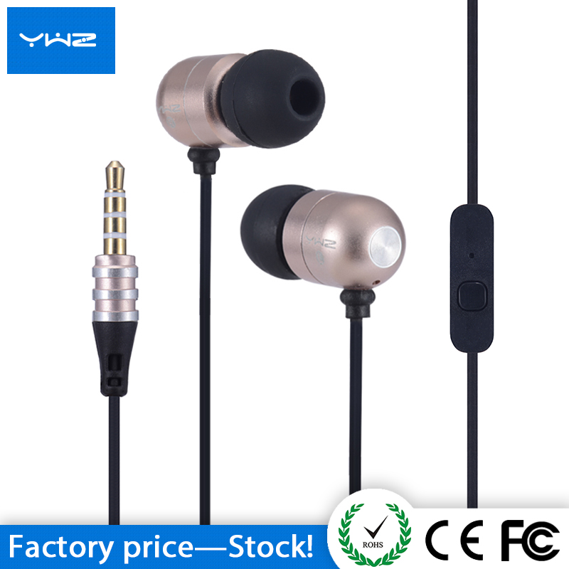 Factory wholesale hot-selling 3.5mm headphone cellphone metal cheap earbud in ear earphone with mic