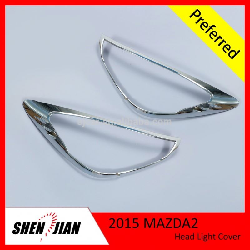 Auto Front Lamp Cover For Toyota Hiace 2012 Accessories ABS Chromed Head Light Cover for hiace exterior accessories