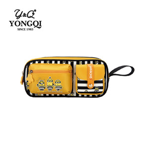 Multi-function 3 pockets training school student pencil case bag