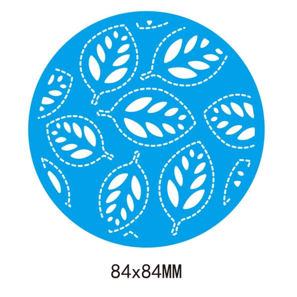 Cutting Dies,Pollyhb Metal Cutting Dies Stencils Scrapbooking Embossing DIY Crafts,Stripe Leaf Frame Round Rectangle Square,Die Cut for Card Making Scrapbooking (C:84x84mm)