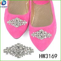 HW3169 charming crystal decorative rhinestone buckles clips shoes accessories for women shoe