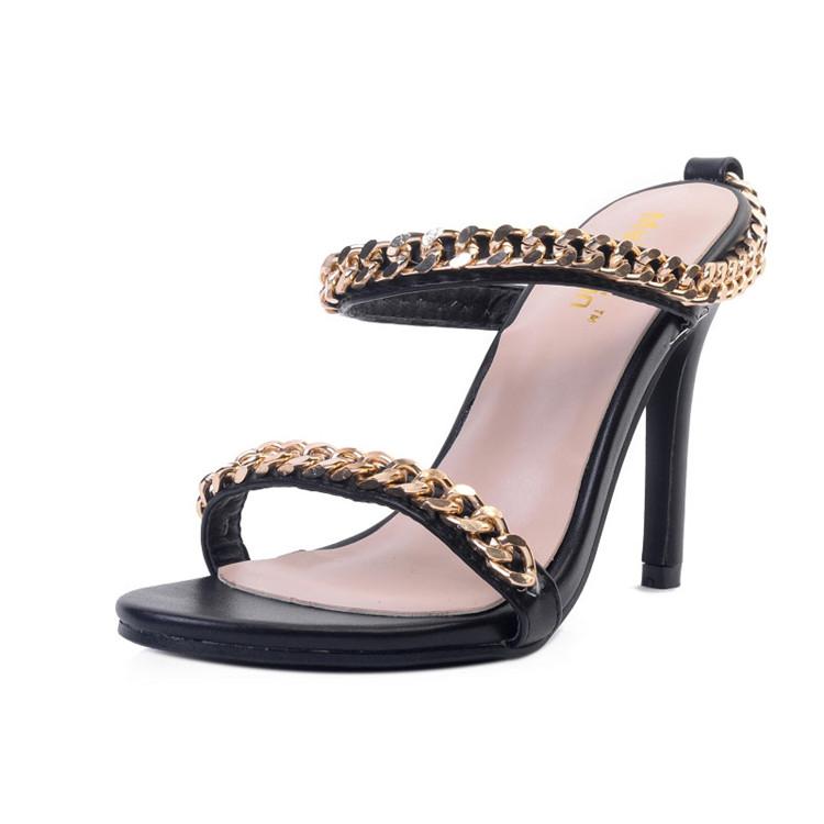 05e922b765 cheelon shoe women slides gold chain stiletto high heel summer ladies latest  designs slipper sandal, View latest design slipper sandal, cheelon shoe  Product ...