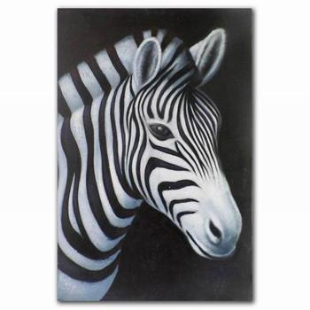 3d Wall Decoration Zebra Oil Painting On Canvas Animal Painting ...