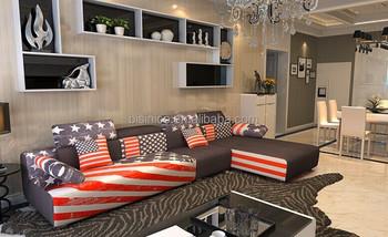 Bisini a stelle e strisce modello di divano set per soggiorno